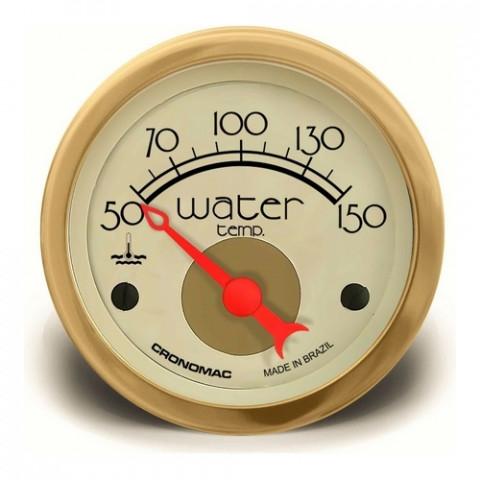 Termômetro Elétrico Água 52mm - Linha Hot Rod Gold