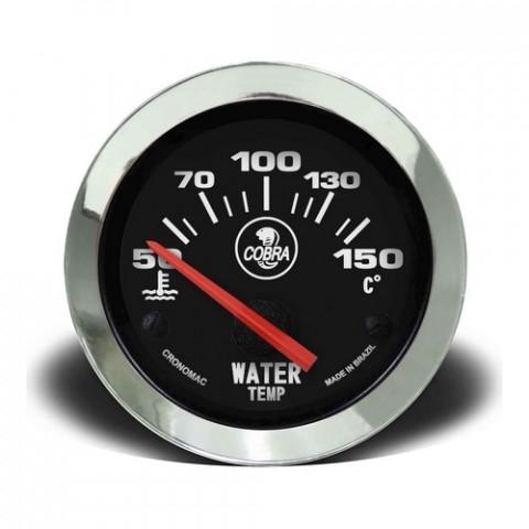 Termômetro Elétrico Água 52mm - Linha Shelby Cobra Preto