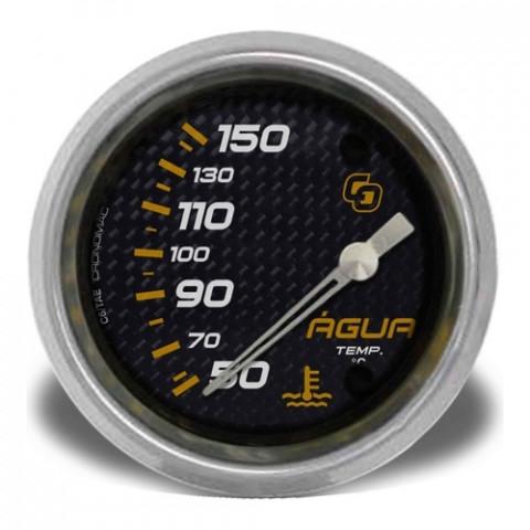 Termômetro Elétrico Água 60mm  - Linha Carbono