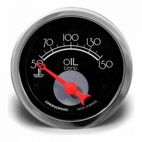 Termômetro Elétrico Óleo 52mm - Linha Hot Rod Black
