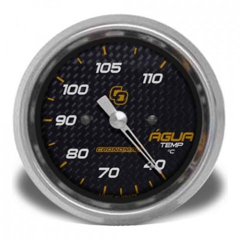 Termômetro Mecânico de Água 60mm - Linha Carbono