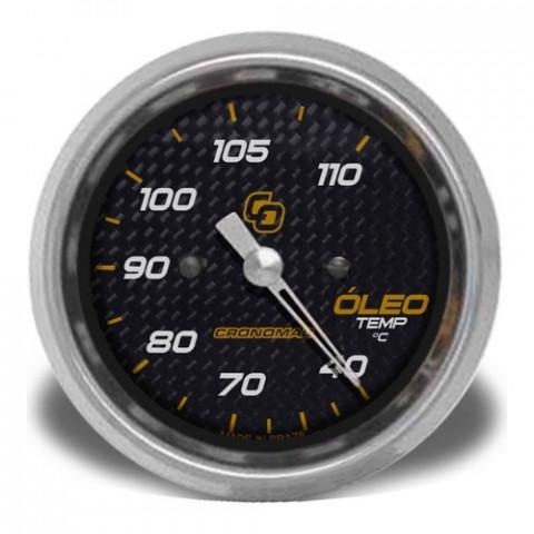 Termômetro Mecânico de Óleo 60mm - Linha Carbono