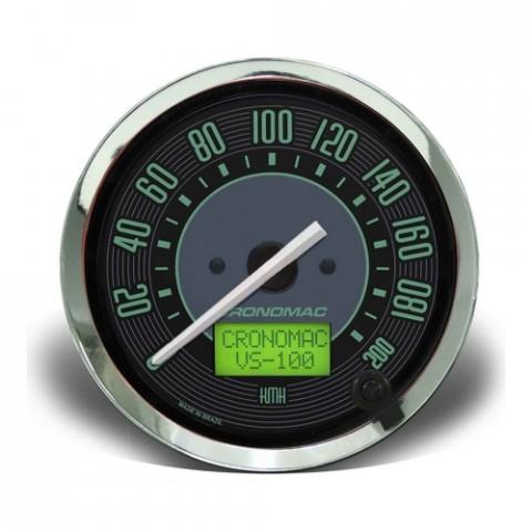 Velocímetro Eletrônico 100mm  200km/h - Linha Volks Verde