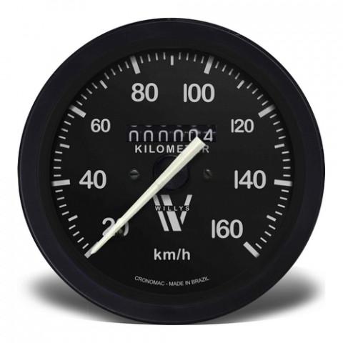 Velocímetro Mecânico 85mm Hodômetro Simples - Linha Willys