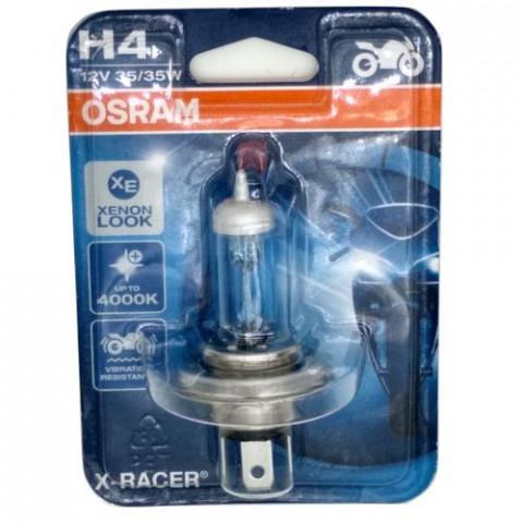 Lâmpada Osram X-racer H4 12v 35/35w Super Branca Farol