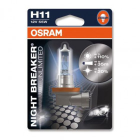 KIT LÂMPADAS H11 NIGHT BREAKER UNLIMITED 12V 55W OSRAM