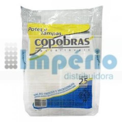 POTE C/TAMPA  500ML PP TRP C/25 COPOBRAS.