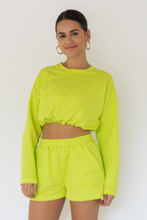 CASACO MOLETOM CROPPED LUCY