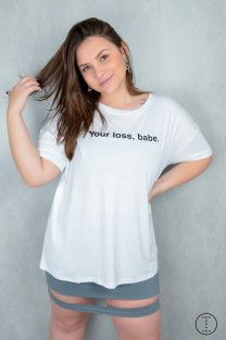 TSHIRT FEMININA YOUR LOSS BABE