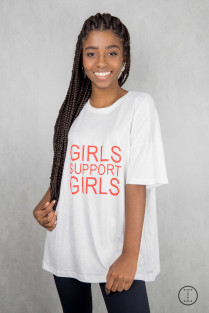 CAMISETA GIRL POWER GIRLS SUPPORT GIRLS