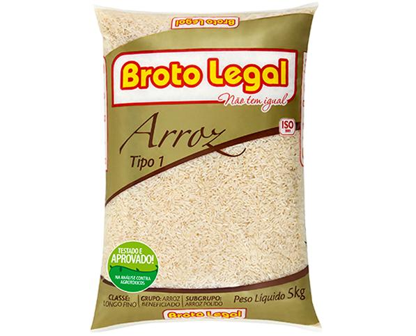ARROZ AGULHINHA BROTO LEGAL TIPO 1 PACOTE 5 kg