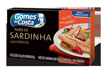 FILES DE SARDINHA COM PIMENTA GOMES DA COSTA 125g