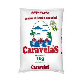 ACUCAR REFINADO CARAVELAS PACOTE 1 Kg