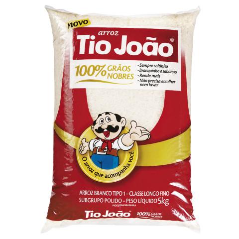 ARROZ AGULHINHA TIO JOAO TIPO 1 PACOTE 5 Kg