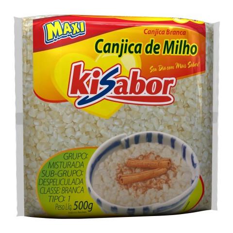 CANJICA DE MILHO BRANCA KISABOR 500g