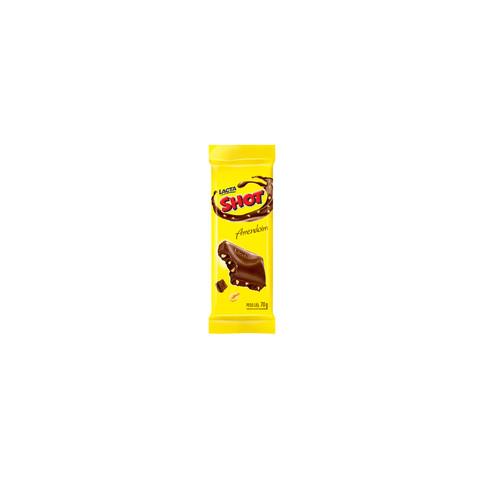 CHOCOLATE SHOT COM AMENDOIM LACTA BARRA 90g