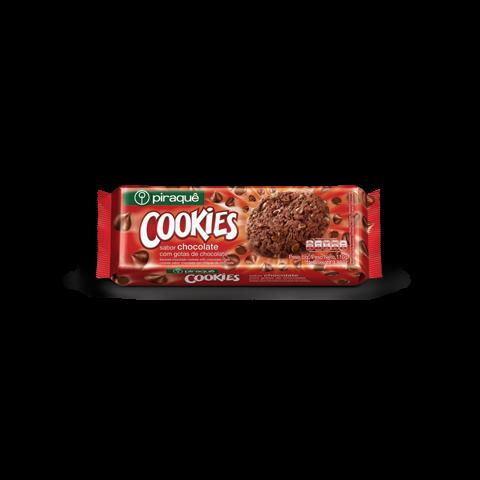 COOKIES PIRAQUE CHOCOLATE COM GOTAS DE CHOCOLATE 110g