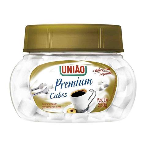 ACUCAR REFINADO EM CUBOS PREMIUM UNIAO 250g