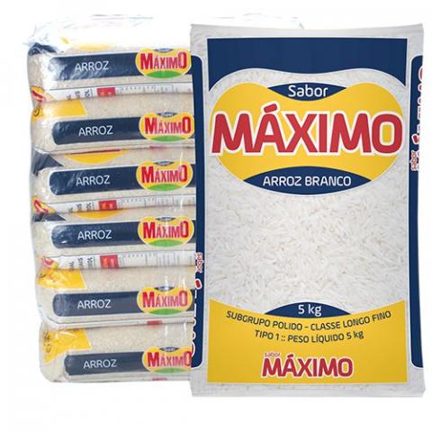 ARROZ AGULHINHA MAXIMO SABOR 5kg