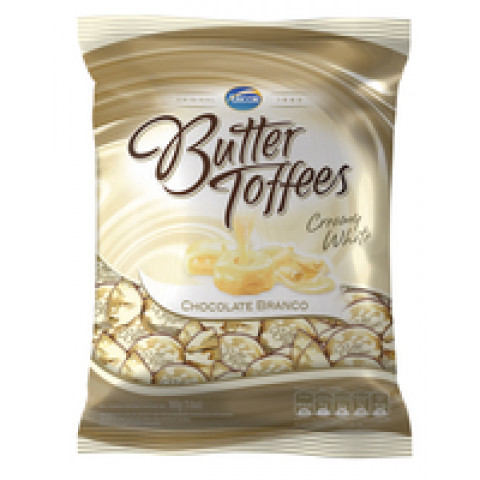 BALA BUTTER TOFFEES ARCOR CHOCOLATE BRANCO 160g