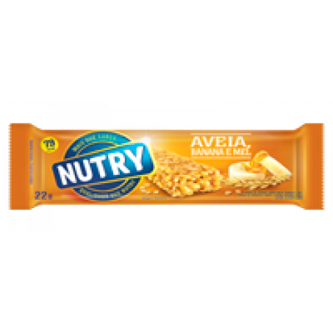 BARRA DE CEREAL NUTRY AVEIA BANANA E MEL 3x22g