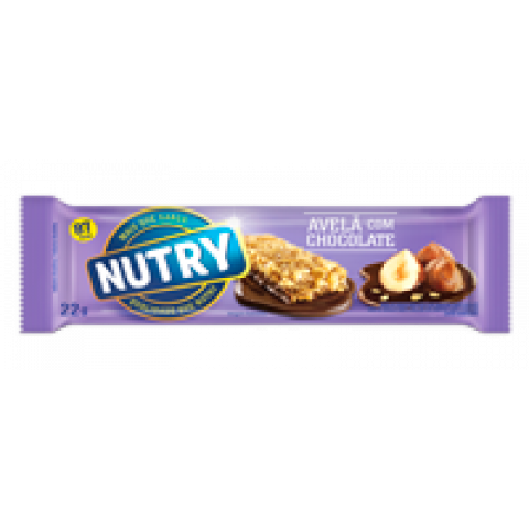 BARRA DE CEREAL NUTRY AVELA E CHOCOLATE 3x22g