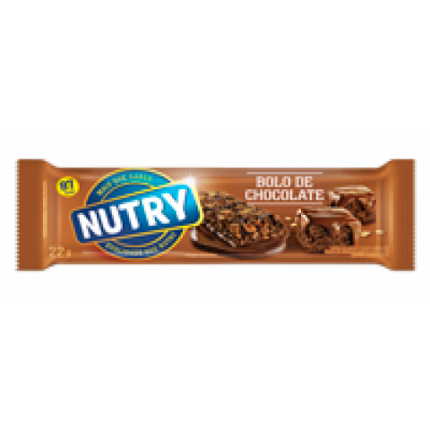 BARRA DE CEREAL NUTRY BOLO DE CHOCOLATE 3x22g