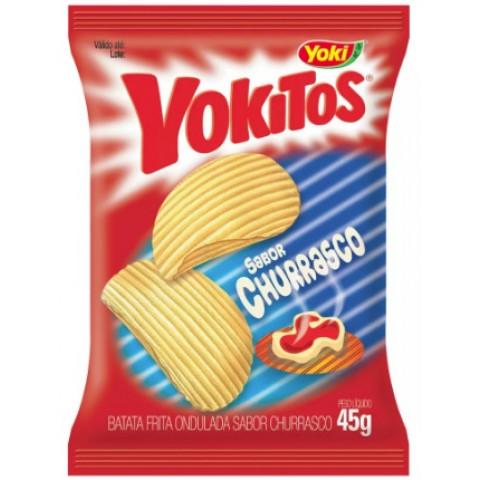 Batata Frita Ondulada Yokitos Churrasco 45g