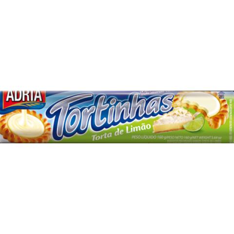 BISCOITO ADRIA TORTINHA RECHEADO DE TORTA DE LIMAO 160gr