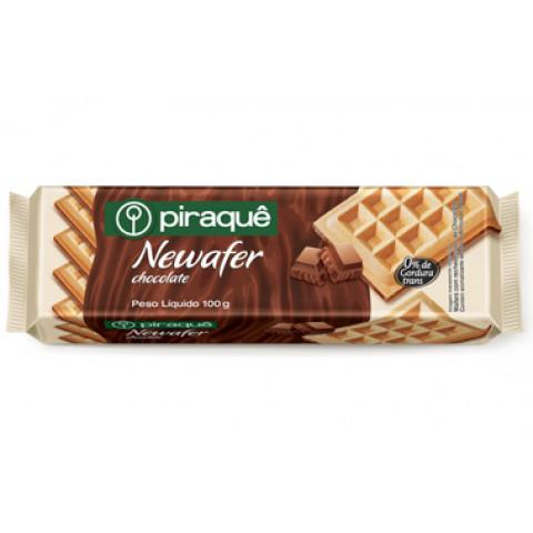BISCOITO NEWAFER CHOCOLATE PIRAQUE 100g