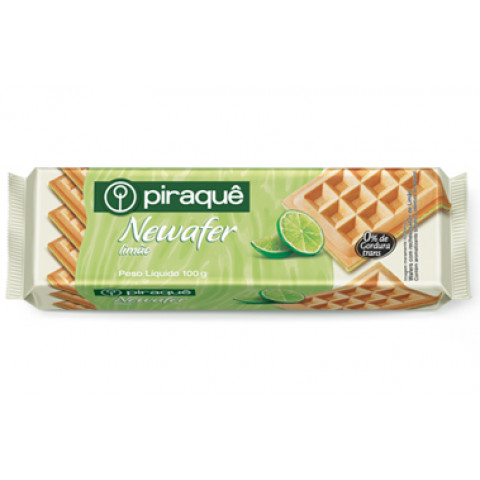 BISCOITO NEWAFER LIMAO PIRAQUE 100g