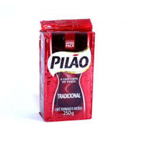 CAFE A VACUO TORRADO E MOIDO TRADICIONAL PILAO 250g