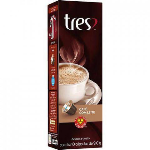 CAPSULA DE CAFE COM LEITE 3 CORACOES 10x9g