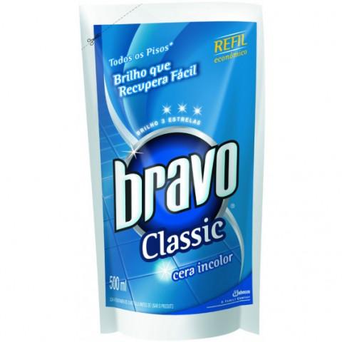 CERA BRAVO CLASSIC INCOLOR REFIL 500ml