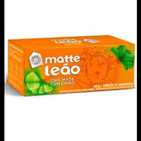 CHA MATTE LEAO SABOR LIMAO EM PO 40g 25 SAQUINHOS