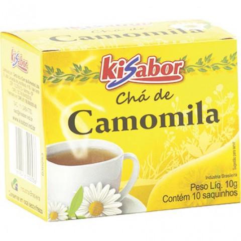 CHA DE CAMOMILA KISABOR 10g 10 SAQUINHOS