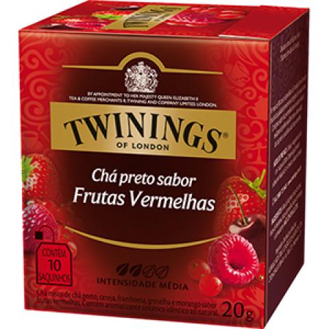 CHA INGLES PRETO SABOR FRUTAS VERMELHAS TWININGS 20g 10 SAQUINHOS