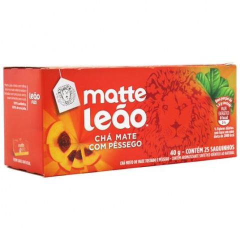 CHA MATTE LEAO COM PESSEGO 40g 25 SAQUINHOS