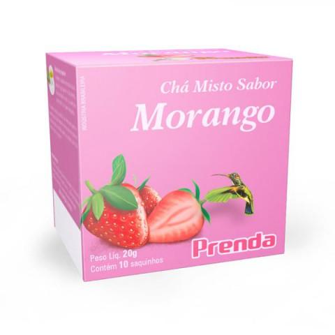 CHA MISTO SABOR MORANGO PRENDA 20g 10 SAQUINHOS