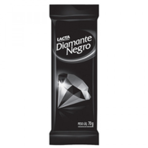 CHOCOLATE DIAMANTE NEGRO LACTA BARRA 90g