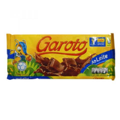 CHOCOLATE GAROTO AO LEITE 100g