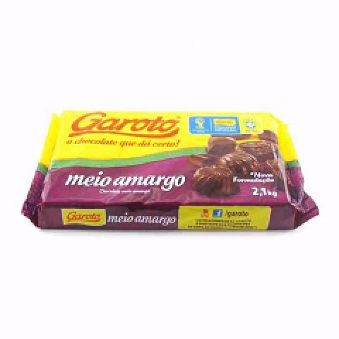CHOCOLATE MEIO AMARGO GAROTO 2,1Kg