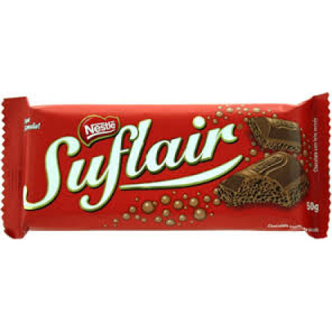 CHOCOLATE SUFLAIR AO LEITE E AERADO 50g