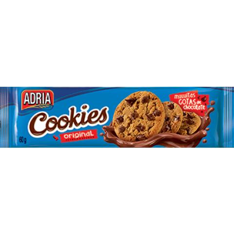 COOKIES ADRIA BAUNILHA COM GOTAS DE CHOCOLATE 60g