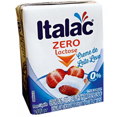 CREME DE LEITE ITALAC ZERO LACTOSE 200g