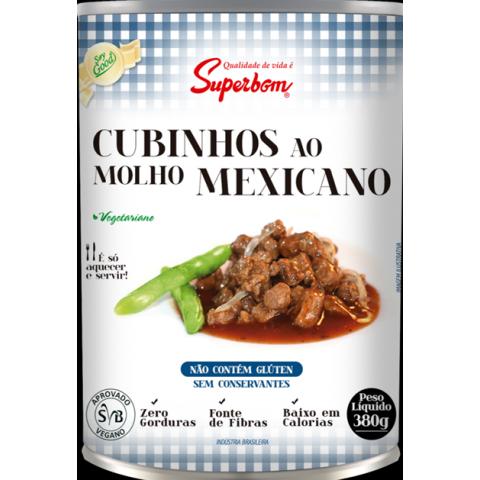 CUBINHOS VEGETARIANOS AO MOLHO MEXICANO VEGANO SUPERBOM 380g