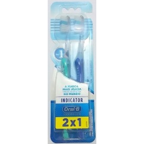 ESCOVA DENTAL ORAL-B INDICATOR PLUS 30 2un