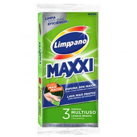 ESPONJA MULTIUSO LIMPEZA ABRASIVA MAXXI LIMPPANO 3 unidades