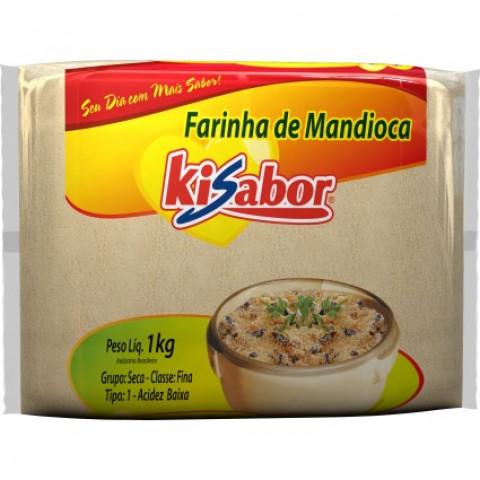 FARINHA DE MANDIOCA FINA CRUA KISABOR 500g