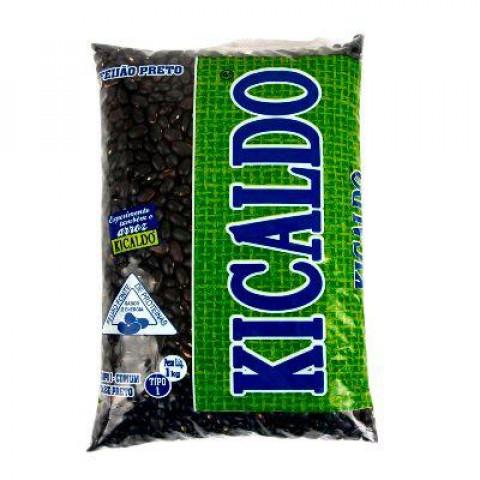 FEIJAO PRETO TIPO 1 KICALDO PACOTE 1kg